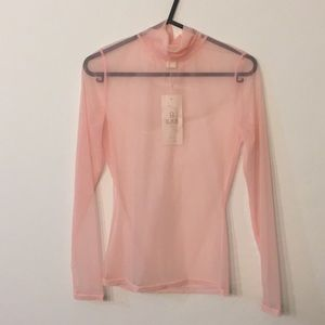 Tops - Pink Turtle neck blouse
